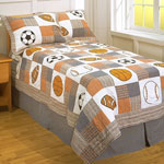 Play Ball Twin Patch Quilt Set