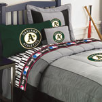 Oakland Athletics Twin Size Sheets Set