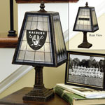 Oakland Raiders NFL Art Glass Table Lamp