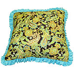 "14"" Square Toss Pillow with Ruffle"