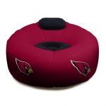 Arizona Cardinals NFL Vinyl Inflatable Chair w/ faux suede cushions