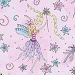 Glitter Fairy Fabric by the Yard - Glitter Fairy