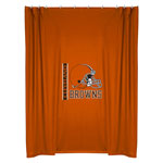 Cleveland Browns Locker Room Shower Curtain