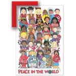Peace in the World N/A - Framed Canvas