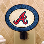 Atlanta Braves MLB Art Glass Nightlight