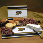 Purdue Boilermakers NCAA College Glass Cutting Board Set
