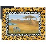 African Safari - Contemporary mount print with beveled edge