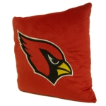 "Arizona Cardinals NFL 16"" Embroidered Plush Pillow with Applique"
