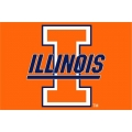 "Illinois Fighting Illini NCAA College 20"" x 30"" Acrylic Tufted Rug"