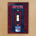 New York Rangers NHL Art Glass Single Light Switch Plate Cover