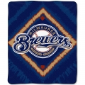 "Milwaukee Brewers MLB ""Diamond"" 50"" x 60"" Micro Raschel Throw"