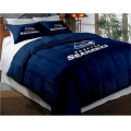 "Seattle Seahawks NFL Twin Chenille Embroidered Comforter Set with 2 Shams 64"" x 86"""