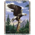 "Hautman Bros. Eagle Perch  48"" x 60"" Metallic Tapestry Throw"