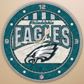 "Philadelphia Eagles NFL 12"" Round Art Glass Wall Clock"