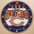 "Chicago Bears NFL 12"" Round Art Glass Wall Clock"