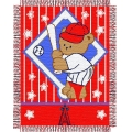 "Los Angeles Angels MLB Baby 36""x 46"" Triple Woven Jacquard Throw"
