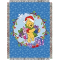 "Winnie The Pooh Home Made Holiday Holiday 48"" x 60"" Metallic Tapestry Throw"