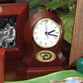 Arizona Diamondbacks MLB Brown Desk Clock