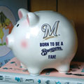 Milwaukee Brewers MLB Ceramic Piggy Bank