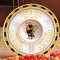 "Georgia Tech Yellowjackets NCAA College 14"" Ceramic Chip and Dip Tray"