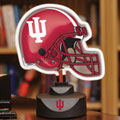 Indiana Hoosiers NCAA College Neon Helmet Table Lamp
