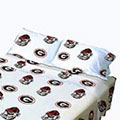 Georgia Bulldogs 100% Cotton Sateen Standard Pillowcase - White