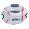 Seattle Mariners MLB Vinyl Inflatable Chair W Faux Suede Cushions