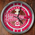 "Arkansas Razorbacks NCAA College 12"" Chrome Wall Clock"