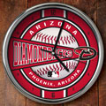"Arizona Diamondbacks MLB 12"" Chrome Wall Clock"