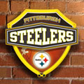 Pittsburgh Steelers NFL Neon Shield Wall Lamp