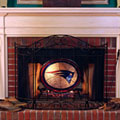 New England Patriots NFL Stained Glass Fireplace Screen