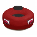 Arkansas Razorbacks NCAA College Vinyl Inflatable Chair w/ faux suede cushions