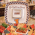 "Illinois Illini NCAA College 14"" Gameday Ceramic Chip and Dip Tray"