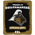 "Purdue Boilermakers College ""Property of"" 50"" x 60"" Micro Raschel Throw"