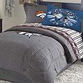 Denver Broncos Nfl Team Denim Queen Comforter Sheet Set