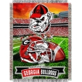 "Georgia Bulldogs NCAA College ""Home Field Advantage"" 48""x 60"" Tapestry Throw"