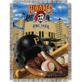 "Pittsburgh Pirates MLB ""Home Field Advantage"" 48"" x 60"" Tapestry Throw"
