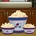 Colorado Avalanche NHL Melamine 3 Bowl Serving Set