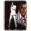 "Elvis 68 48"" x 60"" Metallic Tapestry Throw"
