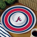 "Atlanta Braves MLB 14"" Round Melamine Chip and Dip Bowl"