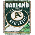 "Oakland Athletics MLB 48""x 60"" Triple Woven Jacquard Throw"