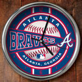 "Atlanta Braves MLB 12"" Chrome Wall Clock"