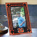 "Cincinnati Bengals NFL 9"" x 6.5"" Vertical Art-Glass Frame"