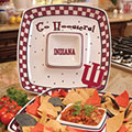 "Indiana Hoosiers NCAA College 14"" Gameday Ceramic Chip and Dip Tray"