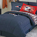 New England Patriots NFL Team Denim Queen Comforter / Sheet Set