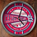 "St. Louis Cardinals MLB 12"" Chrome Wall Clock"