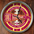 "Arizona State Sun Devils NCAA College 12"" Chrome Wall Clock"