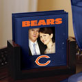 Chicago Bears NFL Art Glass Photo Frame Coaster Set