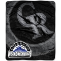 "Colorado Rockies MLB ""Retro"" Royal Plush Raschel Blanket 50"" x 60"""