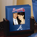 Atlanta Braves MLB Art Glass Photo Frame Coaster Set